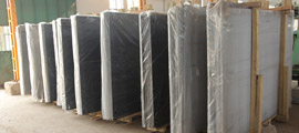 Crated Granite Slabs Image
